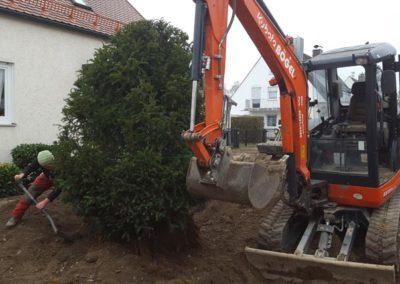 Gartenbau Baggerarbeiten
